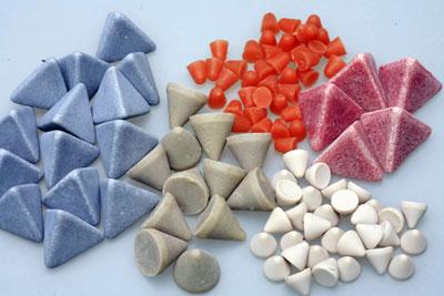 Plastic Media Green Cones 2X2 1/4
